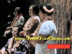 Vintage Tiki Hula Surfing Military Historic Hawaii Polynesia Video!