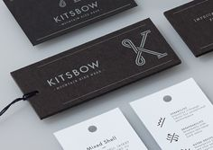 Kitsbow / #typography #hangtags / Manual Creative