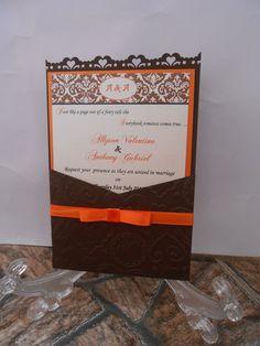 heart themed panel pocket invitation...all handmade