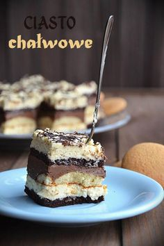 Ciasto chałwowo-czekoladowe Sweet Recipes, Cake Recipes, Dessert Recipes, Polish Recipes, Polish Food, Yummy Food, Tasty, Russian Recipes, Baking Tips