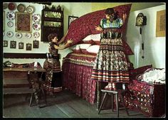 Other Collectible Postcards Hungarian Embroidery, Valance Curtains, Painted Furniture, Folk, Hungary, Budapest, Interior, Plates, Costumes