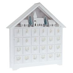 Alternative Christmas Advent Calendars - John Lewis Croft Collection White Wooden LED Advent House.