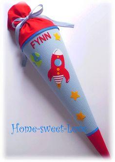 """Schultüten - Schultüte """" Schulstarter"""" Zuckertüte Rakete - ein Designerstück von Home-sweet-love bei DaWanda"""