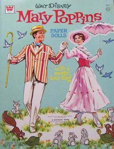 Un Cut Walt Disney Mary Poppins Paper Dolls, Whitman, 1973 Disney Paper Dolls, Barbie Paper Dolls, Paper Dolls Book, Vintage Paper Dolls, Disney Love, Disney Magic, Disney Vintage, Walt Disney Mary Poppins, Walt Disney Movies