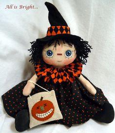 Halloween Raggedy Doll  Trick or Treat by Allisbright on Etsy, $40.00 - www.etsy.com/shop/allisbright