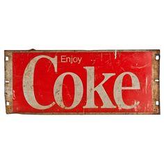 Coca~Cola steel sign