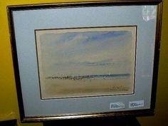 42831Q120131 ARTIST SIGNED  ANTIQUE FRAMED WATER COLOR $19999 or best offer -artist signed - free ship worldwide     sold as is   write if you need more info or photos