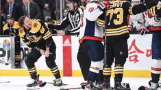 3 takeaways from the Bruins' statement win over the Capitals Boston Bruins Funny, Boston Bruins Players, Boston Bruins Logo, Hockey Players, Hockey Girls, Hockey Mom, Ice Hockey, Boston Bruins Wallpaper, Patrice Bergeron