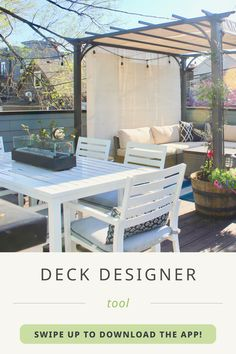 Did you know we have a free, easy-to-use digital deck designer tool? Design the deck of your dreams and receive the blueprints, material list, and cost estimate! Start crafting your outdoor oasis using the link in our bio.   🛠️&📸: Artesian Designs Deck Design Tool, Deck Design Software, Deck Design Plans, Deck Plans, Deck Seating, Outdoor Seating Areas, Deck Landscaping, New Deck, Building A Deck