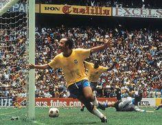 Tostão - Brasil x Itália - Na final da Copa do Mundo de 70