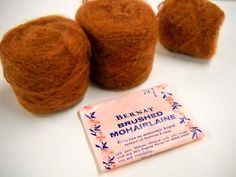 New Listing:  2.6oz of Vintage  Brushed Mohair Yarn in Cocoa Brown at StitchKnit, $9.00   What can you imagine making with this?