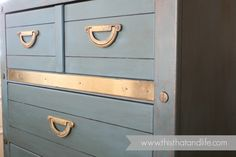 Incredible before and after transformation.  Anneke used chalk paint treatment on this Goodwill find!