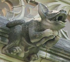 Washington National Cathedral Gargoyles: African Dog (21) in Washington, D.C. (Basenji breed) by Constantine Seferlis, Elizabeth Kimball