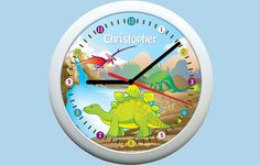 Any Dinosaur fan will love this roartastic Personalised Kids Clock!