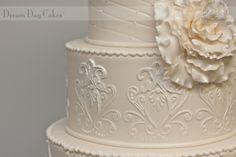 Victorian Wedding CAKES | Victorian Scroll Wedding Cake Pic #14