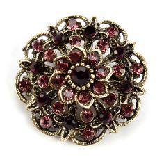 Factory Direct Sale Antique Crystal Diamante Flower Cute Brooch Pins for Women in assorted designs >>> Khotite dopolnitel'nuyu informatsiyu? Nazhmite na izobrazheniye.