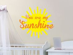 Sunshine Wall Decal by WallJems - Sunshine wall decals for the home, classroom or office. Add a little sun to the room. #yellow #homedecor #walldecals #funkthishouse