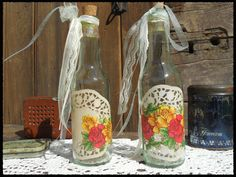 Botellas Decoradas, $40 en https://ofeliafeliz.com.ar