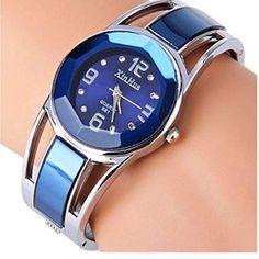 60d8bca46 ELEOPTION Women's Bangle Watch Bracelet Design Quartz Watch with Rhinestone  Round Dial