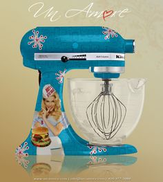 Completion of Custom Hand-Painted KitchenAid Mixers Kitchen Aid Appliances, Kitchen Aid Mixer, Kitchen Paint, Kitchen Decor, Kitchen Ideas, Kitchenaid Stand Mixer, Mixers, Cool Gadgets, Custom Paint
