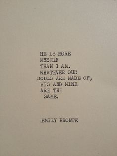 THE EMILY BRONTE Typewriter quote on 5x7 cardstock by WritersWire, $5.00