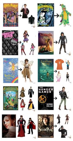 book character costumes for kids, tweens and teens #halloween