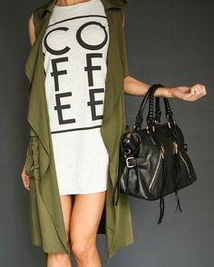 Coffee Tank Dress