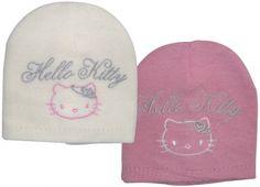 HELLO KITTY CUFFIA CORONA 2 VERSIONI BIANCA/ROSA  Cuffia in cotone con disegno Di Hello Kitty, taglia unica da bambina. Colore bianco-rosa