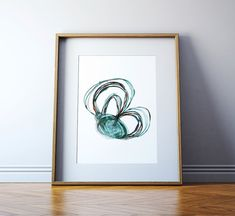 This is a print of an original watercolor that I made of the semicircular canals. The anatomy depicted includes the anterior, superior and lateral