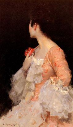 William Merritt Chase, Portrait Of A Lady, 1890