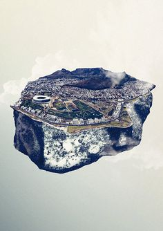 Cape Town / limited edition print by stuffedition #travel #africa #art