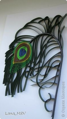 peacock quilling 3-D image