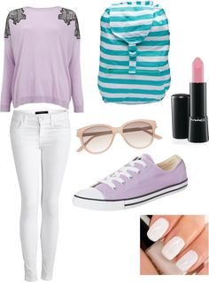 """High School Fashion"" by meeyqistina ❤ liked on Polyvore"