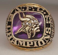 1973 Minnesota Vikings Super Bowl Championship Ring