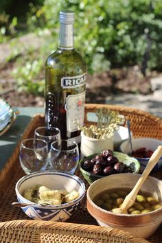 With summer days we begin to have aperitif on the terrace in Provence