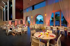 Secrets Marquis Los Cabos - A shot of the chic and contemporary Spice restaurant with views of the Sea of Cortes.