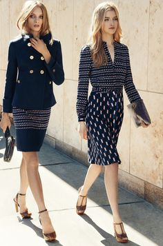 Anna Selezneva and Lydia Carron for Tory Burch Fall 2012 Campaign #fashion