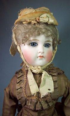Gorgeous Antique German Bisque Fashion Doll All Original   eBay