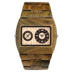 WeWOOD Jupiter army duurzaam houten horloge! | dual-time!