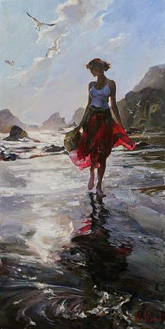 Morning Reflection a Garmash Original Painting available from J Watson Fine Art 661 your source for beautiful Michael and Inessa Garmash original paintings and limited edition artwork. Art And Illustration, Art Amour, Wow Art, Fine Art, Art Design, Interior Design, Beautiful Paintings, Painting Inspiration, Female Art
