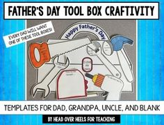 Imagine all the fathers' faces when their child brings home this tool box to hang on their door or refrigerator! This decorative tool box with sweet written memories will be a treasured keepsake! Students will write their favorites, memories, and feelings about their loved ones...always a keepsake for a dad!