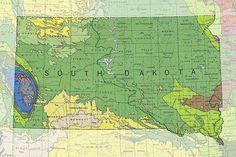 Geologic Maps of the 50 United States: South Dakota Geologic Map