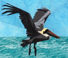 silver linings quilting pattern flying pelican