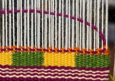 For this post I tackle two techniques in the CraftArtEdu Introduction to Tapestry Class: pick and pick and soumak knots. Pick and Pick Pick and pick is a method you'll hear about a lot. It cr… Hippy Room, Hippie Room Decor, Bohemian Decor, Bohemian Homes, Dorm Tapestry, Tapestry Weaving, Wool Wall Hanging, Wall Hangings, Chevron Patterns
