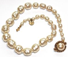 Vintage Chanel Pearl Necklace Real Chanel Jewelry by FizzCandy, $1000.00