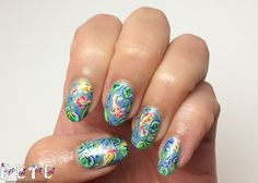 Koi in a Pond Nails