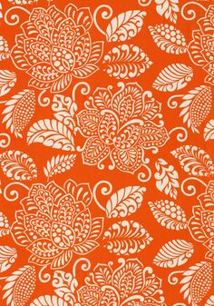 WATERBURY, Orange, F99269, Collection Avalon from Thibaut | India | Henna | Background Pattern | Wallpaper
