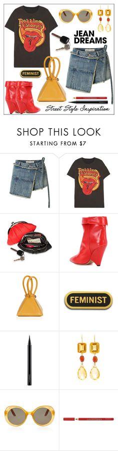 """Jean Dreams: Denim Skirts"" by pat912 ❤ liked on Polyvore featuring Sandy Liang, MadeWorn, Isabel Marant, MAC Cosmetics, Brigid Blanco, Bourjois, polyvoreeditorial and denimskirts"