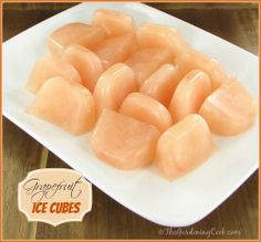 Grapefruit Ice Cubes - great for lemonade and mixed drinks.