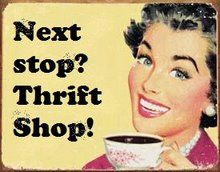 A cup of coffee and a trip to the thrift store... yes please!